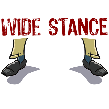 Wide Stance Feet