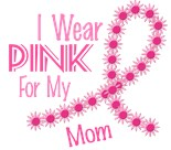 Support Breast Cancer Awareness Month Flower Mom