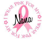 Support Breast Cancer Awareness Month Grunge Nana