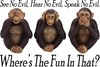 See Speak Hear Evil Monkeys Humorous
