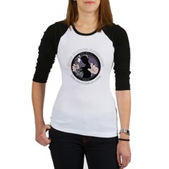 Stop Motion Animation Women's Black Jr. Raglan