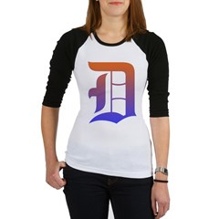 Olde English D Women's + Size Scoop Neck Dark Tee Jr. Raglan