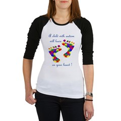 Footprints on your heart Jr. Raglan