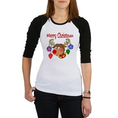 Merry Christmas Reindeer Jr. Raglan