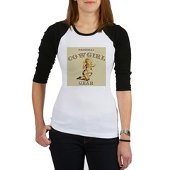 Vintage Style Cowgirl Label Jr. Raglan