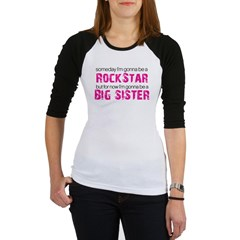 ADULT SIZES rock star big sister Jr. Raglan
