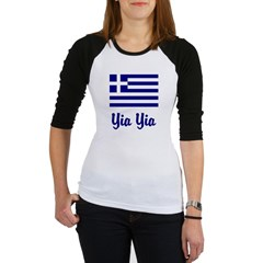 Yia Yia with Greek Flag Jr. Raglan