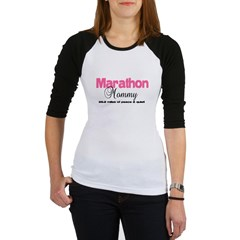 Marathon Mommy Peace Quie Jr. Raglan