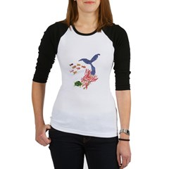 Ramah's Mermaid (on dark) Jr. Raglan