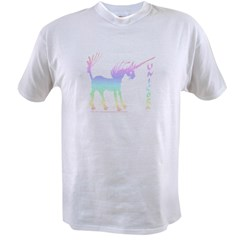 Rainbow Gestural Unicorn Value T-shirt