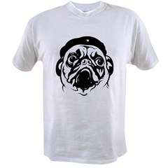 Pug Revolutionary Icon- Ash Grey Value T-shirt