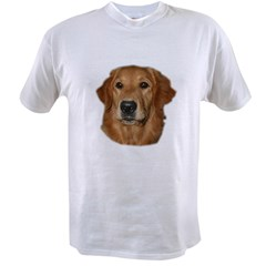 Head Study Golden Retriever Ash Grey Value T-shirt