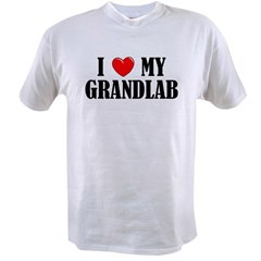 I Love My Grandlab Value T-shirt