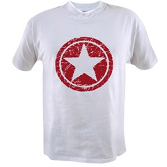 Red Circle Star black shirt Value T-shirt