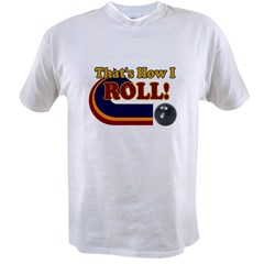 THATS HOW I ROLL BOWLING RETR Ash Grey Value T-shirt