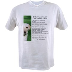 Yellow Lab Rules Value T-shirt