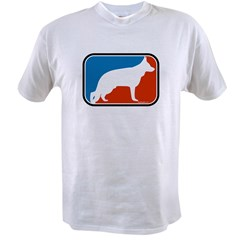 RWB German Shepherd Ash Grey T-Shirt (Style 2) Value T-shirt