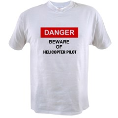 Beware/ Go Vertical Helicopter Ash Grey Value T-shirt