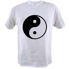 Yin Yang Ash Grey Value T-shirt