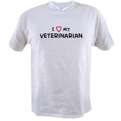 I Love Veterinaarian Value T-shirt