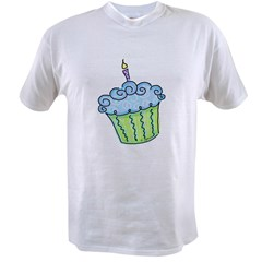 Cute Cupcake (blue) Value T-shirt