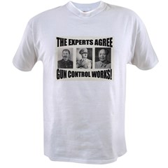 The Experts Agree Gun Control Ash Grey Value T-shirt