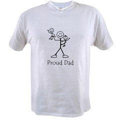 Proud Dad Ash Grey Value T-shirt