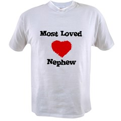 Most Loved Nephew Ash Grey Value T-shirt