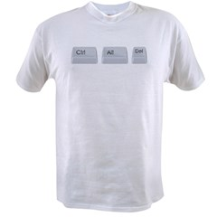 Control Alt Delete Value T-shirt