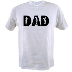 Golf Dad Ash Grey Value T-shirt