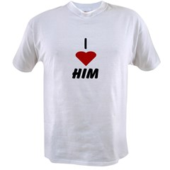 I Heart Him Ash Grey Value T-shirt