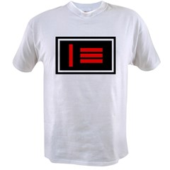 Master/slave (Dom/sub) Pride Flag Ash Grey Value T-shirt