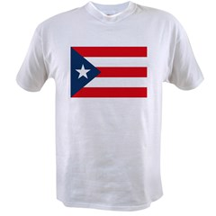 Puerto Rican Flag Ash Grey Value T-shirt