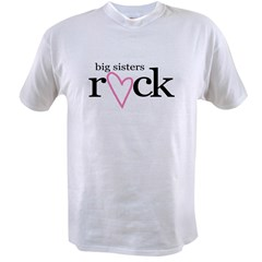 big sisters rock heart Value T-shirt