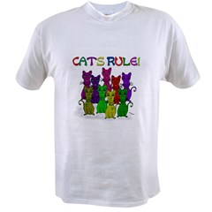 Cats Rule Ash Grey Value T-shirt