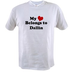 My Heart: Dallin Ash Grey Value T-shirt