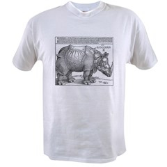 Durer Rhino Ash Grey Value T-shirt