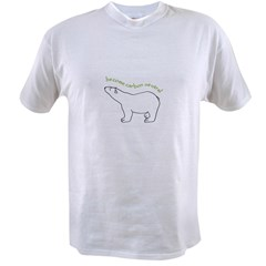 carbon neutral polar bear Ash Grey Value T-shirt