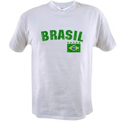BRAZIL-BLACK-worn Value T-shirt