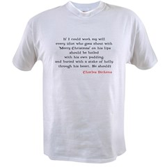 Scrooge Quote Ash Grey Value T-shirt
