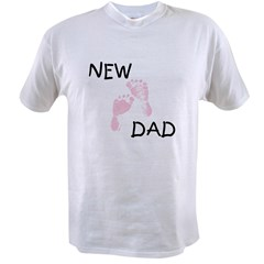 New Dad PINK Value T-shirt