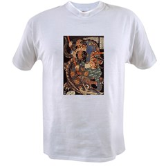 Miyamoto Musashi Fights Nue Ash Grey Value T-shirt