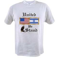US & Israel United Ash Grey Value T-shirt