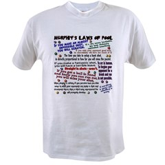 Murphy's Laws of Pool Ash Grey Value T-shirt
