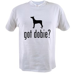 Doberman Pinscher Ash Grey Value T-shirt