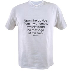 Upon the advice ... Ash Grey Value T-shirt