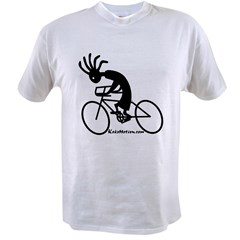 Kokopelli Road Cyclist Ash Grey Value T-shirt
