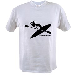Kokopelli Kayaker Ash Grey Value T-shirt