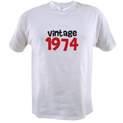 Vintage 1974 Birthday Value T-shirt
