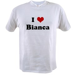 I Love Bianca Ash Grey Value T-shirt